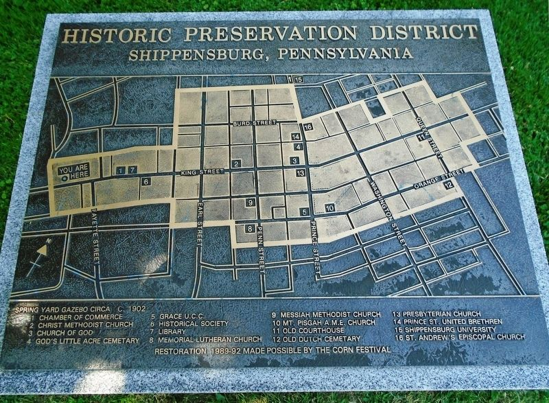 Historic Preservation District Map and Key image. Click for full size.