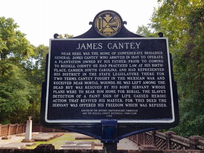 James Cantey Marker, recently restored image. Click for full size.