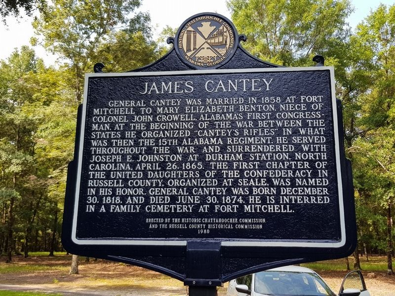 James Cantey Marker reverse, recently restored image. Click for full size.