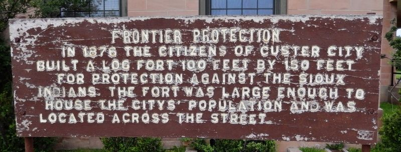 Frontier Protection Marker image. Click for full size.