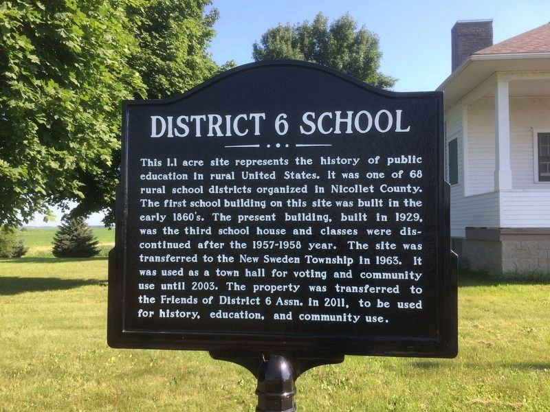 District 6 School Marker image. Click for full size.
