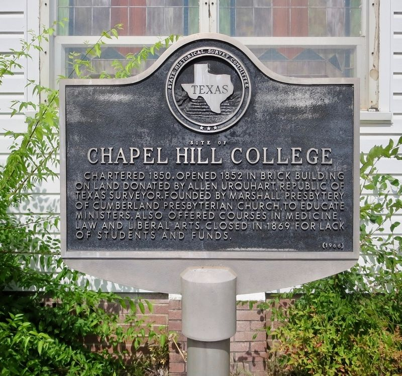 Site of Chapel Hill College Marker image. Click for full size.