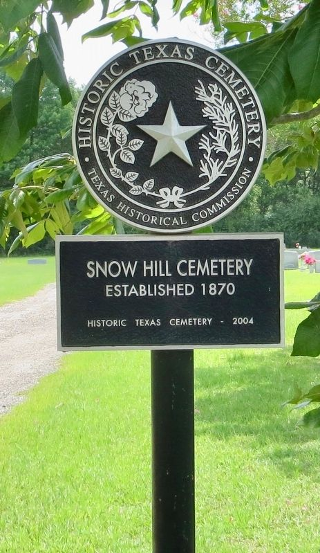 Snow Hill Cemetery Marker image. Click for full size.