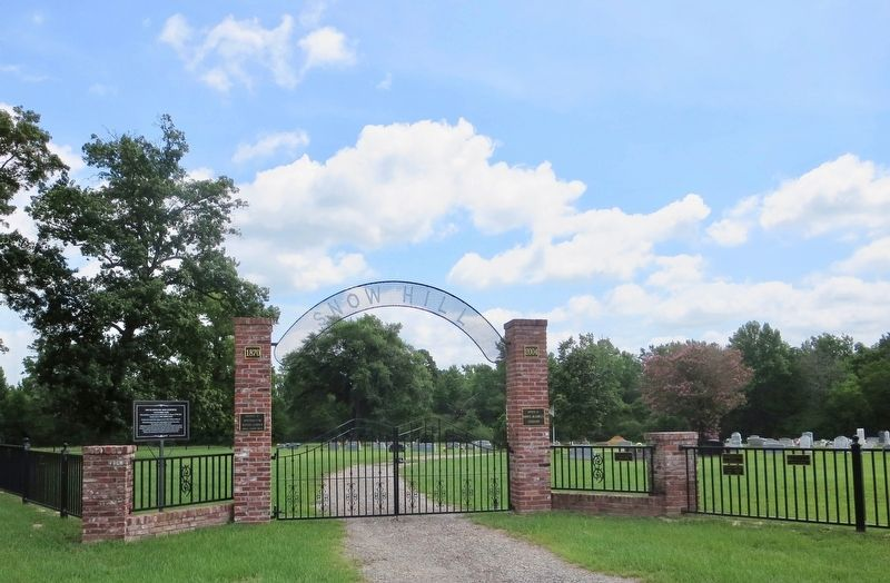 Newer Snow Hill Cemetery outer entrance gate. image. Click for full size.