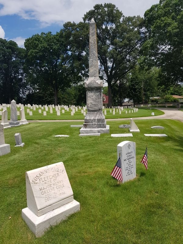 The Cole Memorial at Marietta National Cemetery image. Click for full size.