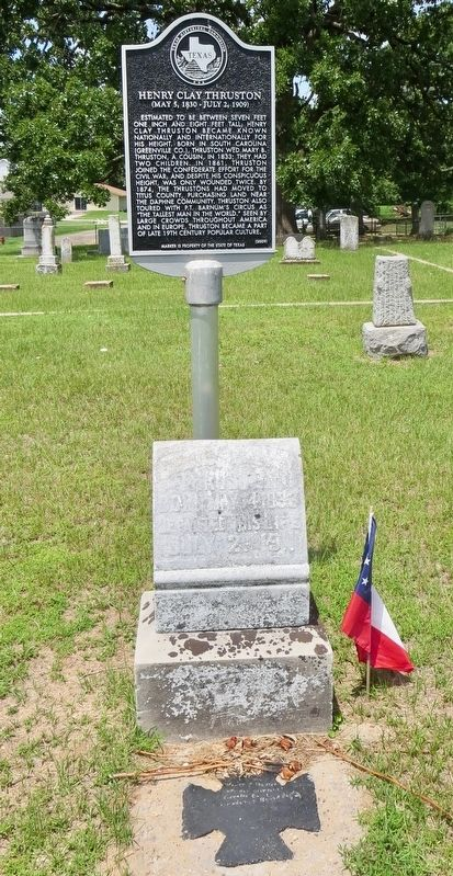 Henry Clay Thruston Marker and grave marker. image. Click for full size.
