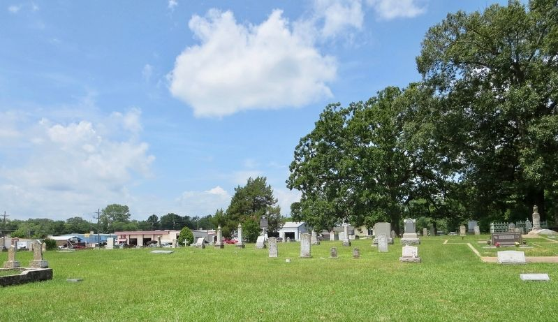 Henry Clay Thruston Marker in center background of cemetery. image. Click for full size.