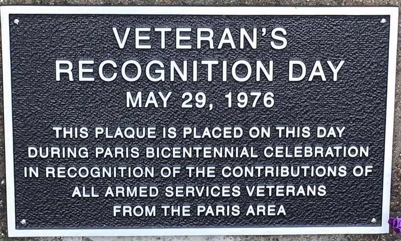 Veterans Recognition Day Marker image. Click for full size.