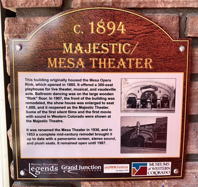 Majestic/Mesa Theater Marker image. Click for full size.