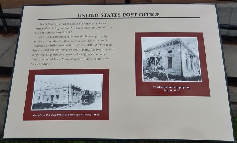 United States Post Office Marker image. Click for full size.