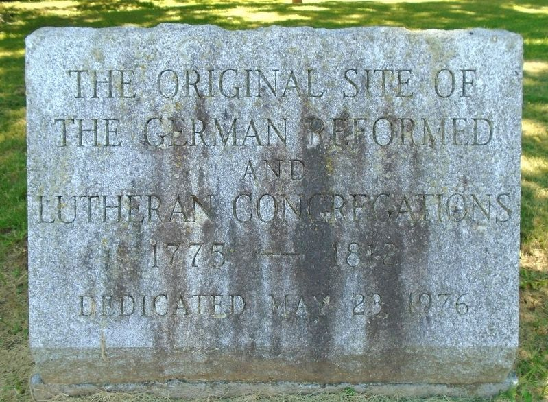 The Original Site of the German Reformed and Lutheran Congregations Marker image. Click for full size.