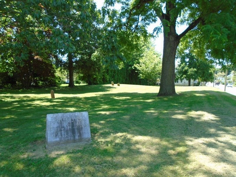 The Original Site of the German Reformed and Lutheran Congregations and Marker image. Click for full size.