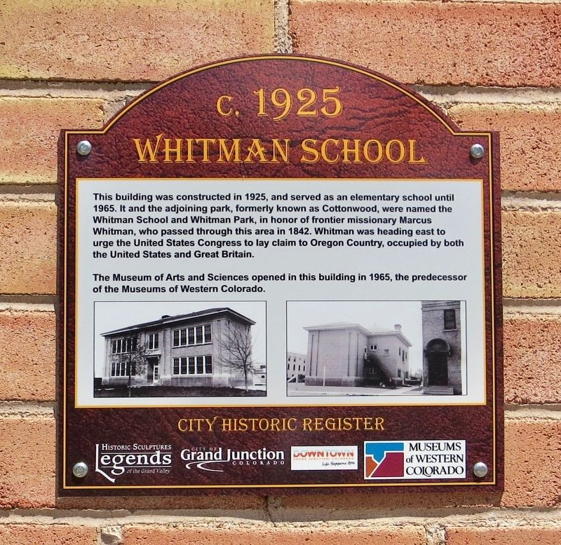 Whitman School Marker image. Click for full size.