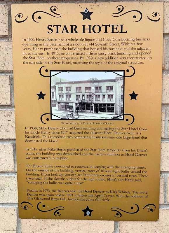 Star Hotel Marker image. Click for full size.