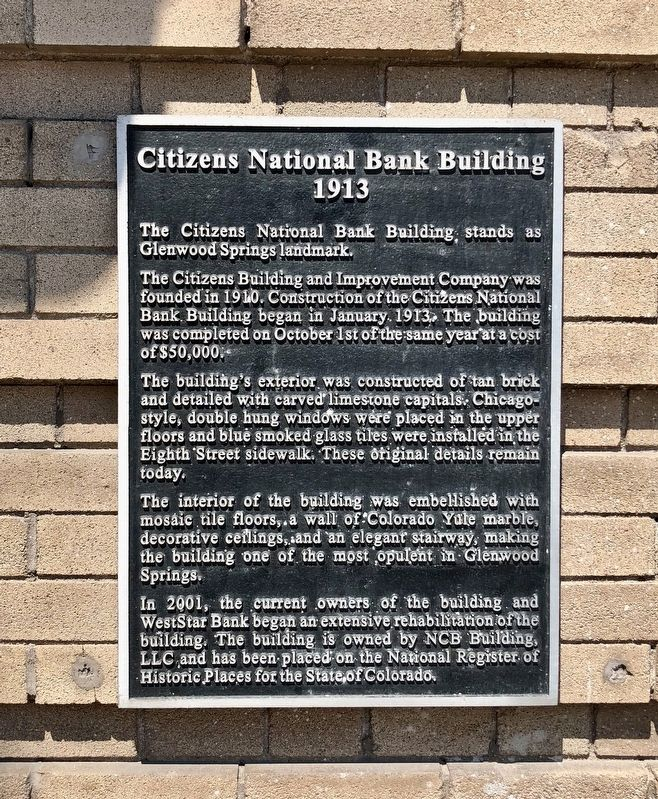 Citizens National Bank Building Marker image. Click for full size.