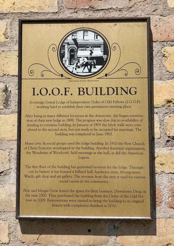 I.O.O.F. Building Marker image. Click for full size.