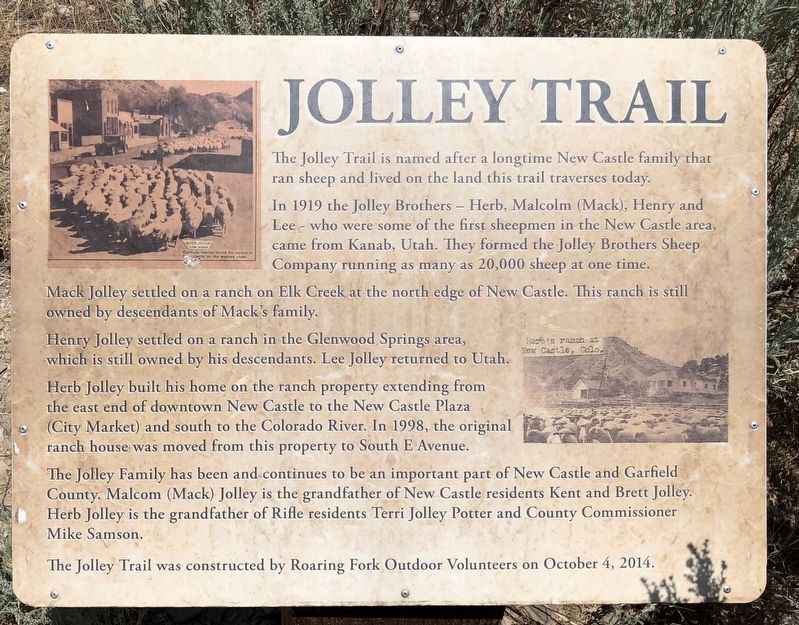 Jolley Trail Marker image. Click for full size.