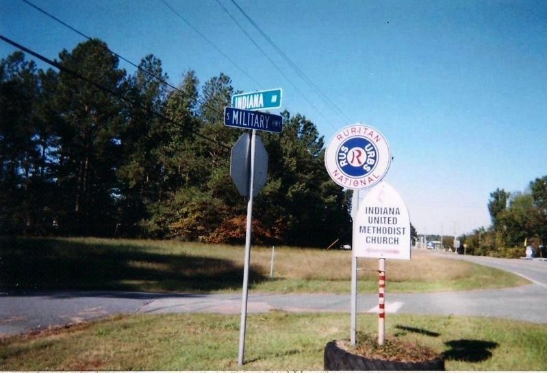 Exhibit C: Indiana United Methodist Church sign in c. 2011. image. Click for full size.