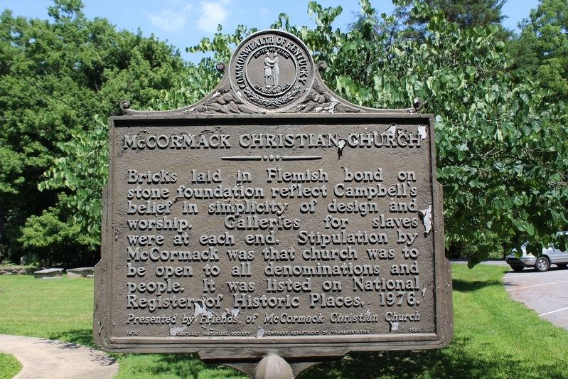 McCormack Christian Church Marker (Side 2) image. Click for full size.