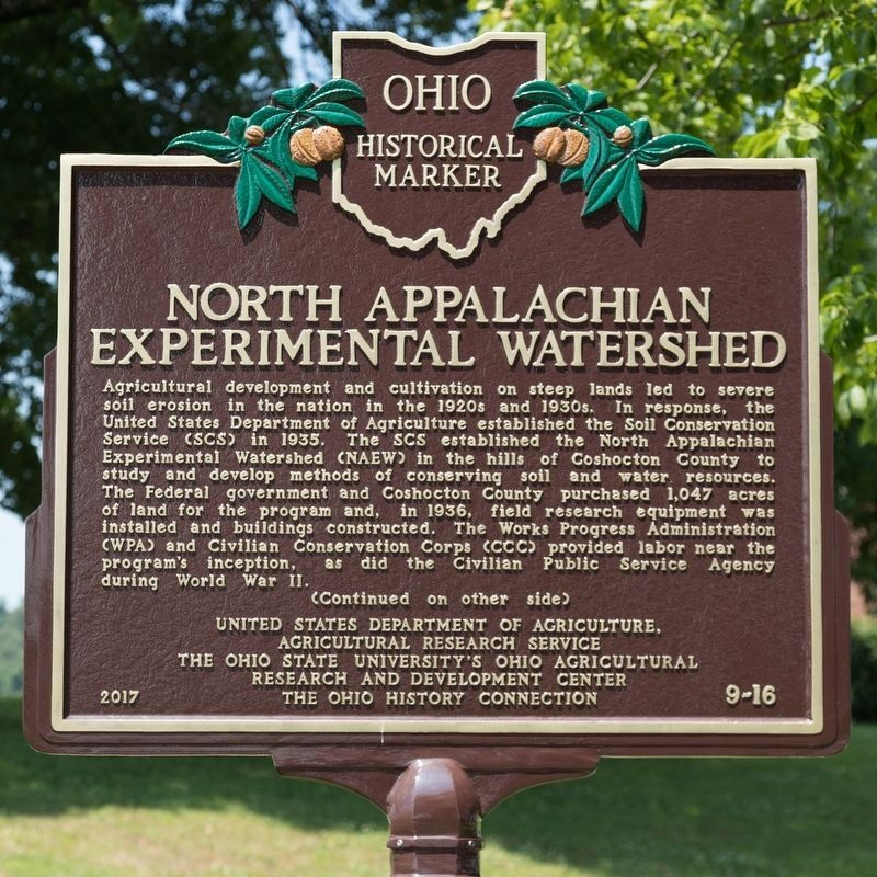 North Appalachian Experimental Watershed Marker, Side One image. Click for full size.