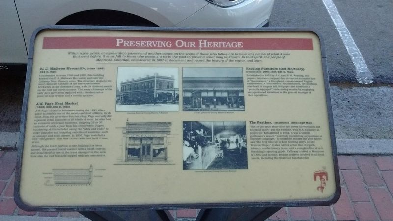 Preserving Our Heritage Marker image. Click for full size.