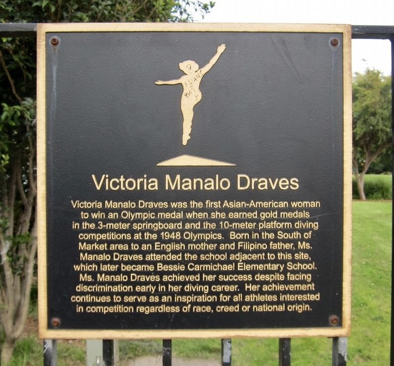 Victoria Manalo Draves Marker image. Click for full size.