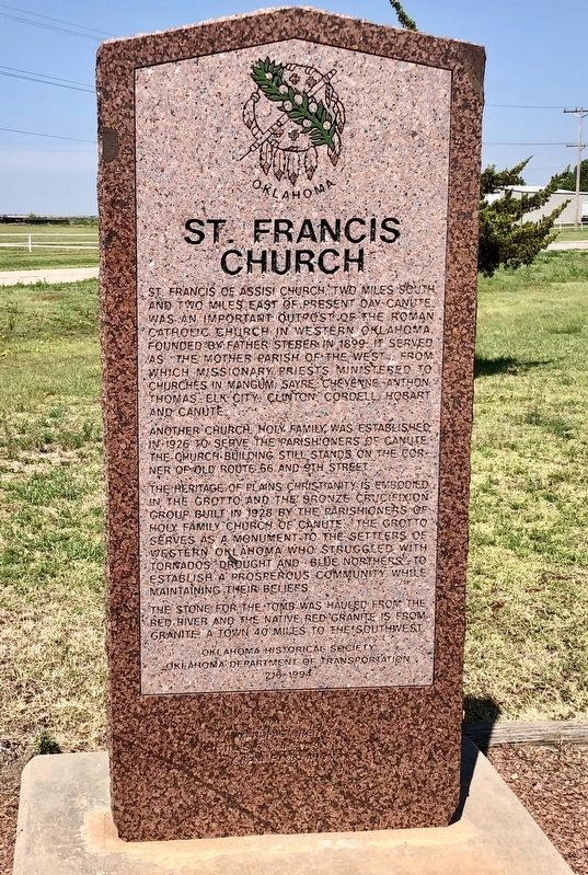 St. Francis Church Marker image. Click for full size.