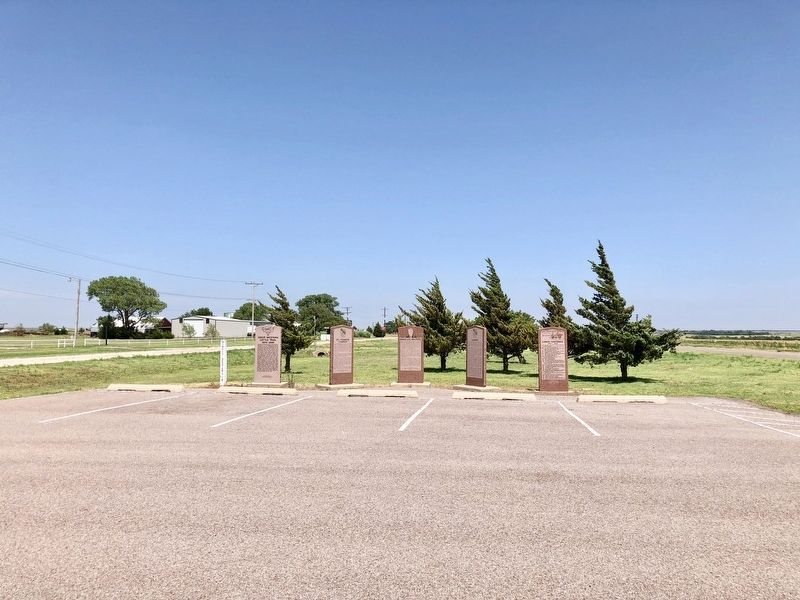 Canute Centennial Marker is on far right. image. Click for full size.
