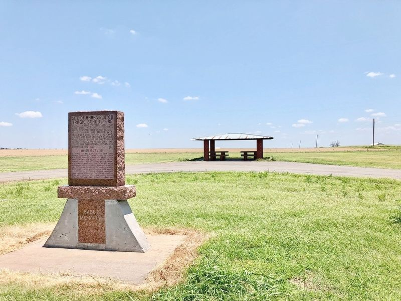 View from marker towards location of former school. image. Click for full size.