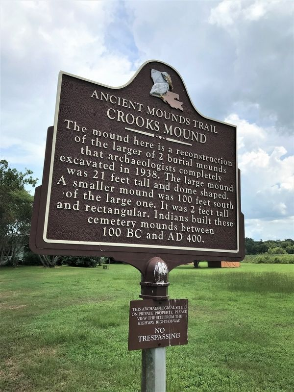 Crooks Mound Marker image, Touch for more information