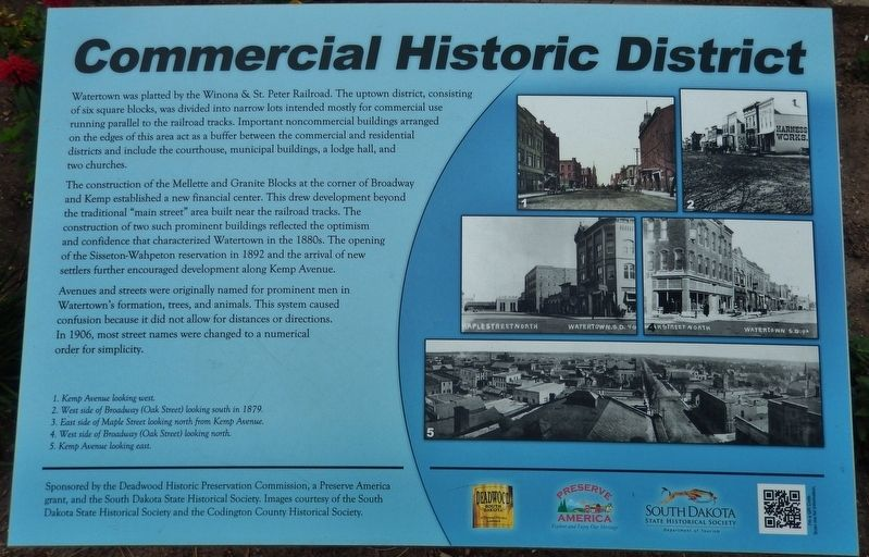 Commercial Historic District Marker image. Click for full size.