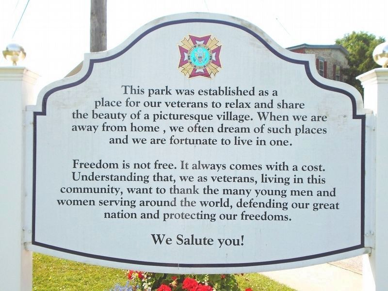 Cumberland County Veterans Park Sign image. Click for full size.