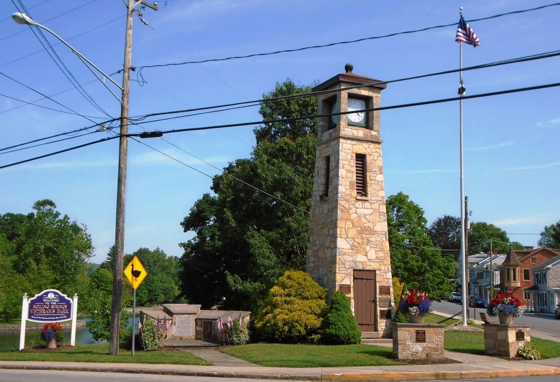 Cumberland County Veterans Memorial Clock Tower and Park image. Click for full size.