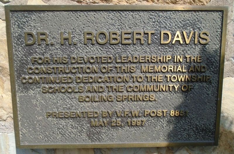 Cumberland County Veterans Memorial Clock Tower Supporter Marker - Davis image. Click for full size.