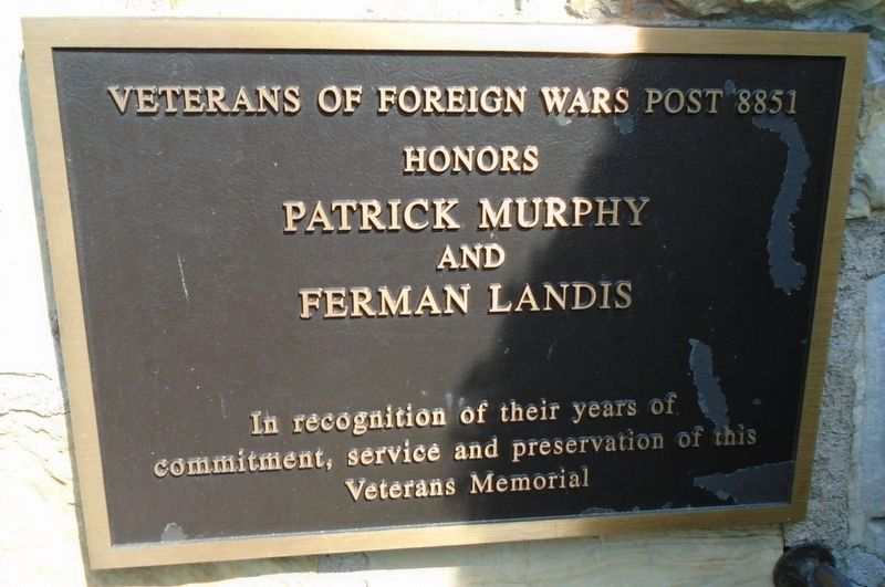 Cumberland County Veterans Memorial Clock Tower Supporter Marker - Murphy and Landis image. Click for full size.