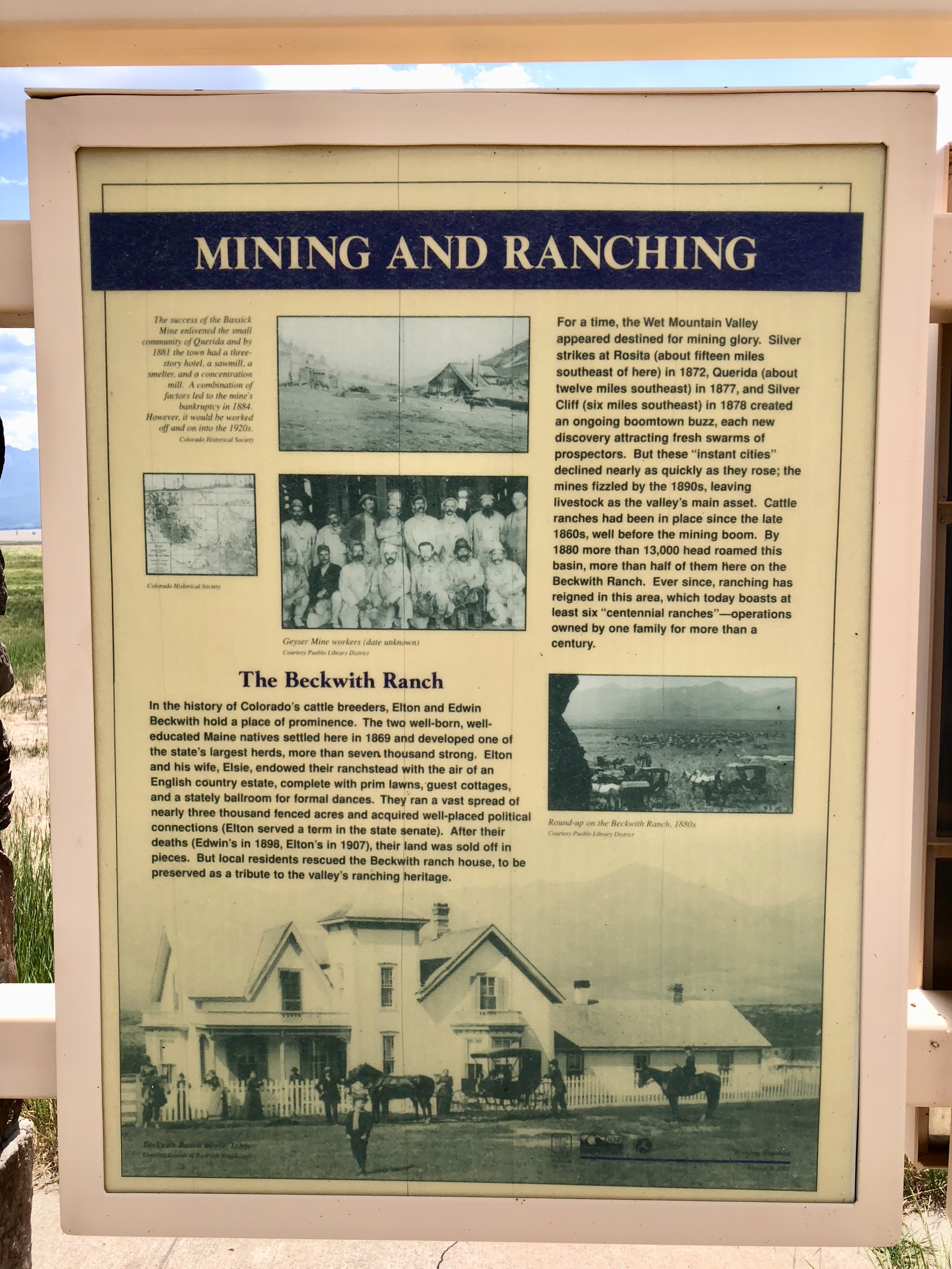 Mining and Ranching Marker