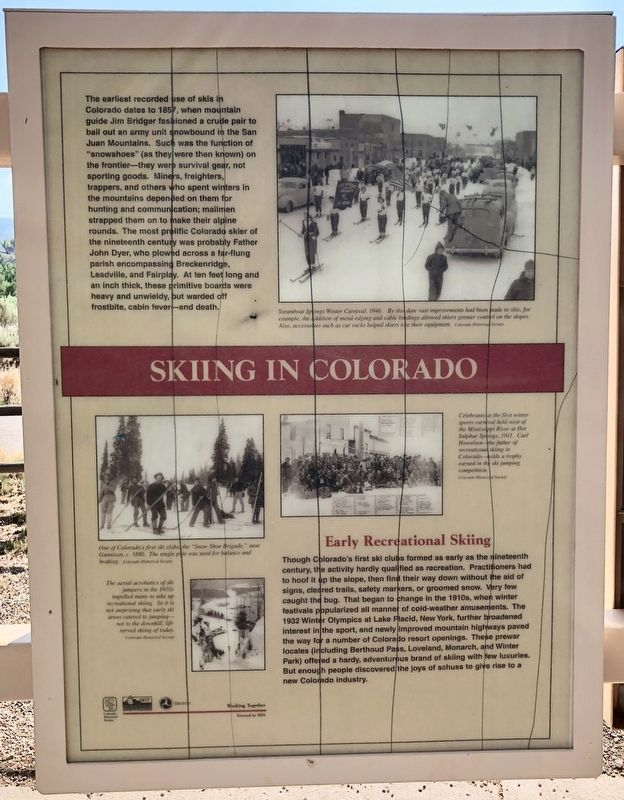 Skiing in Colorado Marker image. Click for full size.