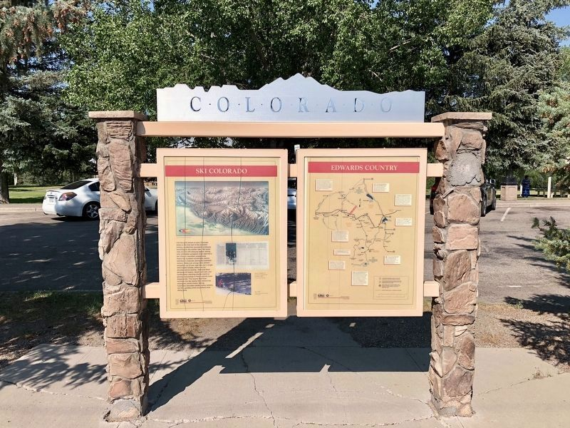 View of marker towards the rest area. image. Click for full size.