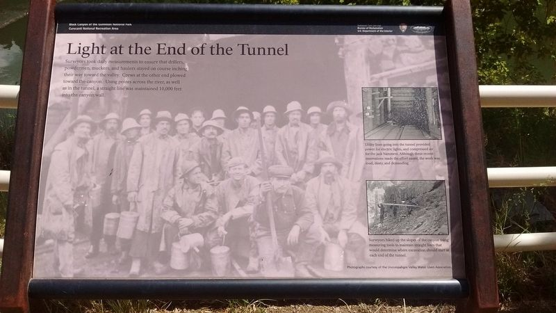 Light at the End of the Tunnel Marker image. Click for full size.
