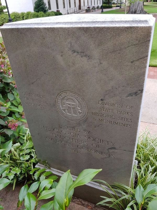 Abraham Baldwin Marker reverse image, Touch for more information