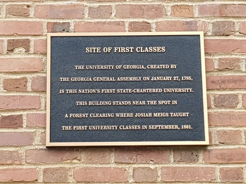 Site of First Classes Marker image. Click for full size.