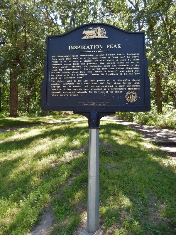 Inspiration Peak Marker (<i>tall view</i>) image. Click for full size.