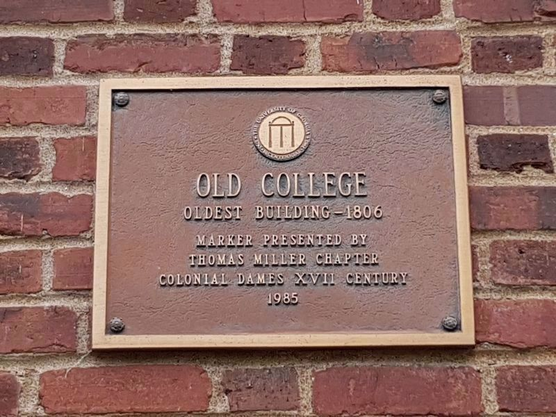 An additional Old College marker image. Click for full size.
