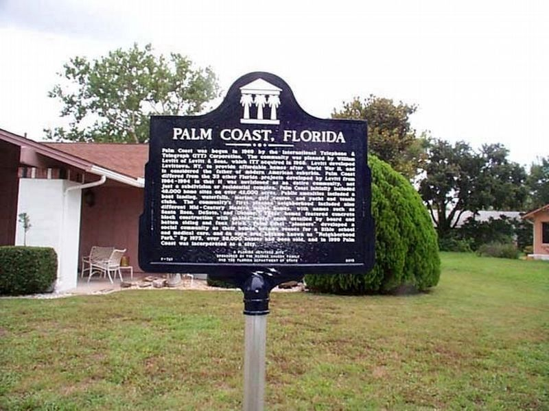 Palm Coast, Florida Marker image. Click for full size.