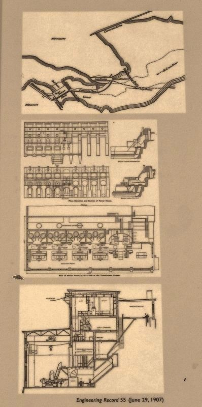 Marker detail: Engineering Record 55 image. Click for full size.