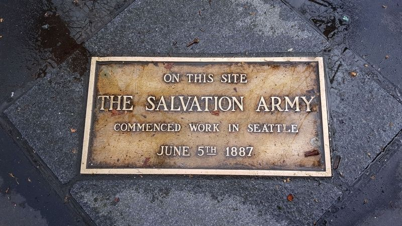 Salvation Army Site Marker image. Click for full size.