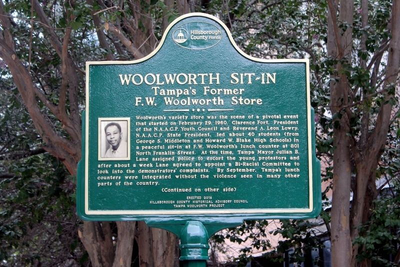Woolworth Sit-In Marker Side 1 image. Click for full size.
