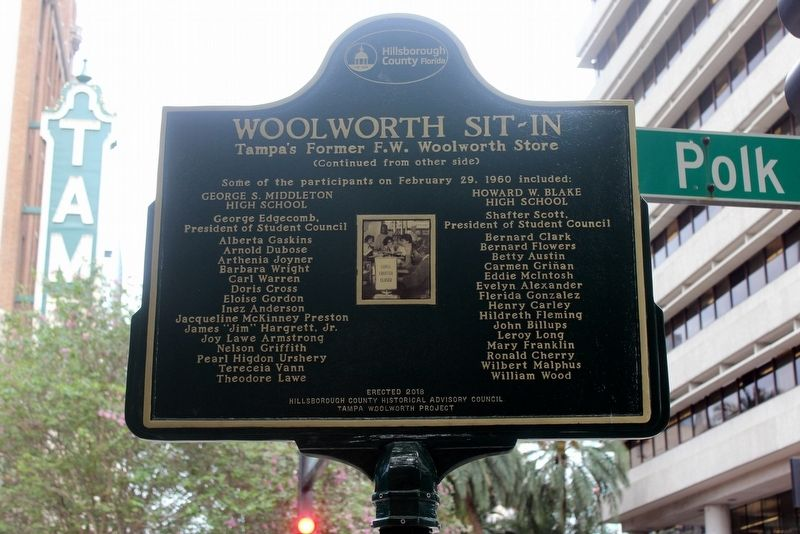 Woolworth Sit-In Marker Side 2 image. Click for full size.