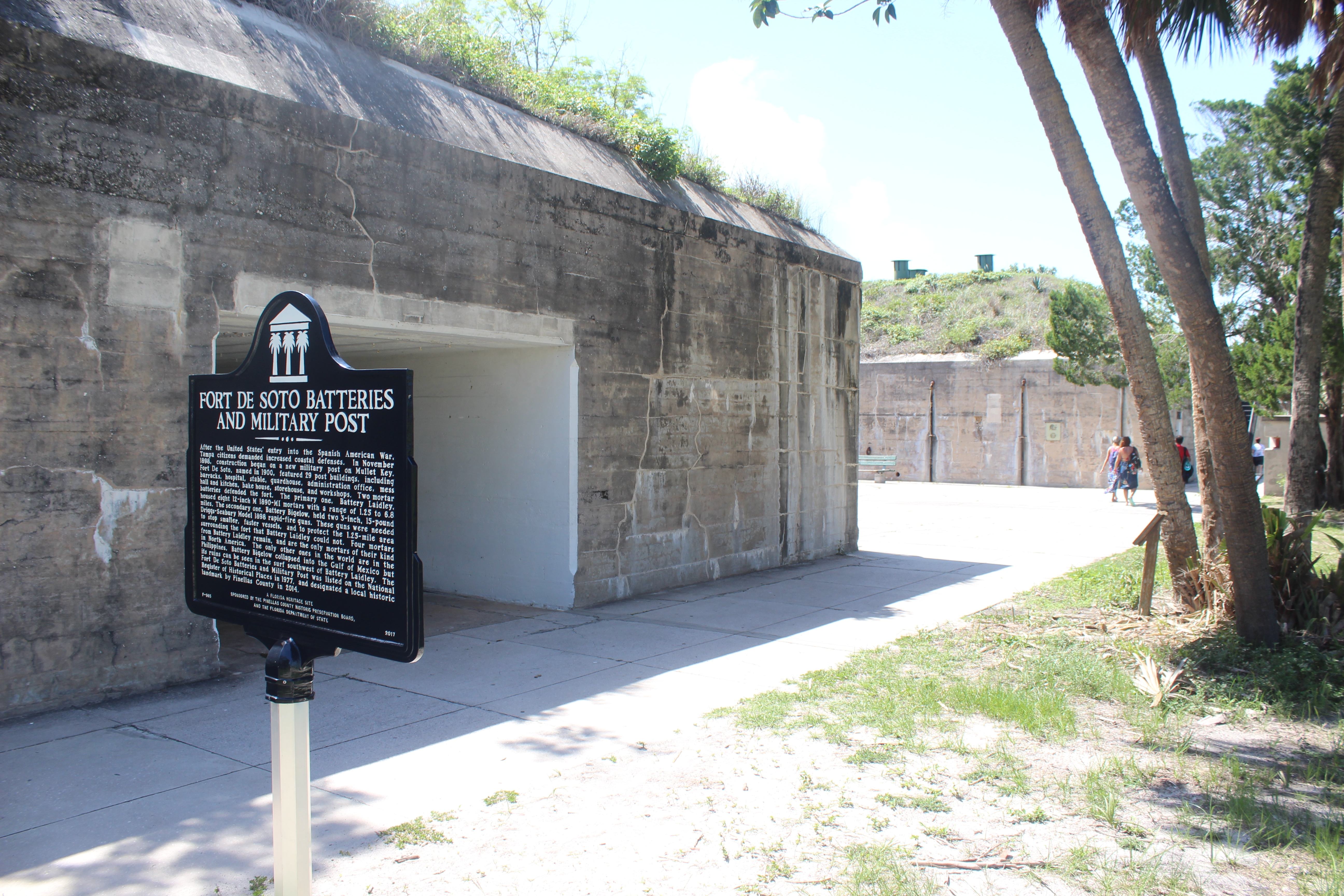 Fort De Soto Batteries and Military Post Marker and part of fort