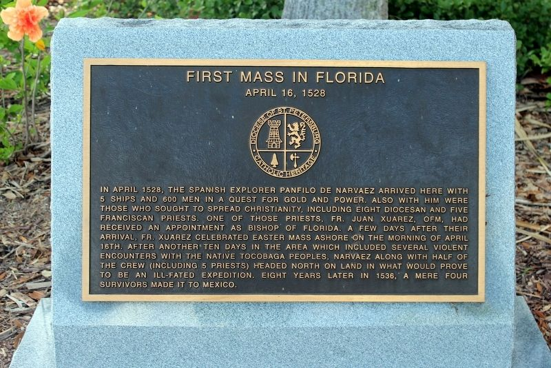 First Mass in Florida Marker image. Click for full size.